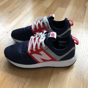 New Balance 247 red white blue sneakers